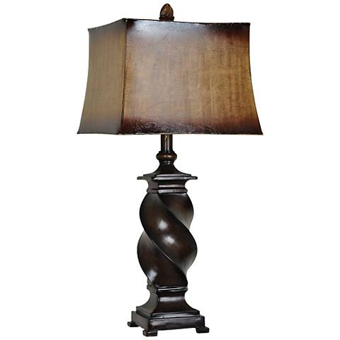 Crestview Collection Clint Twist Bronze Table Lamp