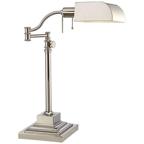 Quoizel Bradford Polished Nickel Adjustable Desk Lamp