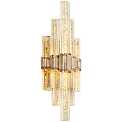 """Corbett Voila 20"""" High Gold Leaf LED Wall Sconce"""