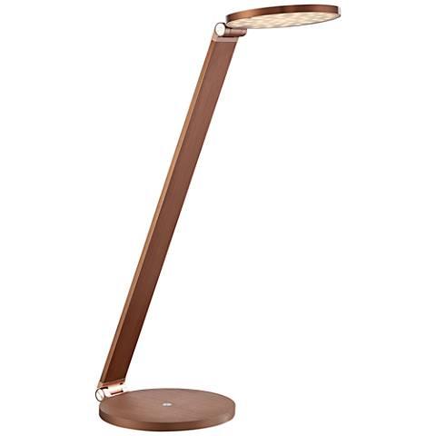 Quoizel Edge Rose Gold Adjustable LED Desk Lamp