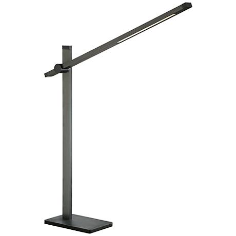 Quoizel Incline Blue-Gray Adjustable Arm LED Desk Lamp