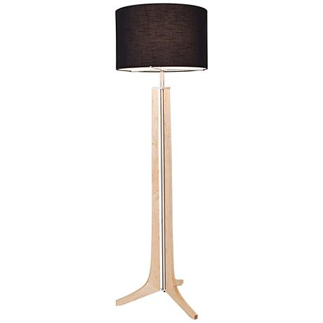 Cerno Forma Maple with Black Shade LED Floor Lamp