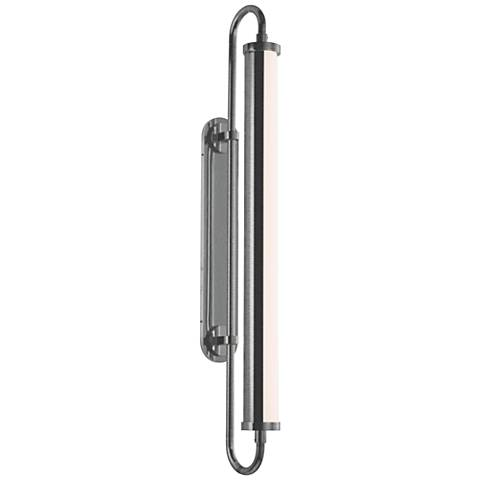 "Bauhaus Revisited Rohr 22 1/2""H Satin Chrome LED Wall Sconce"