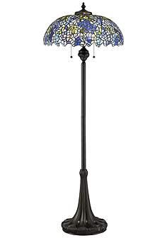 Floor Lamps Tiffany: Quoizel Tiffany Style Royal Briar Art Glass Floor Lamp,Lighting