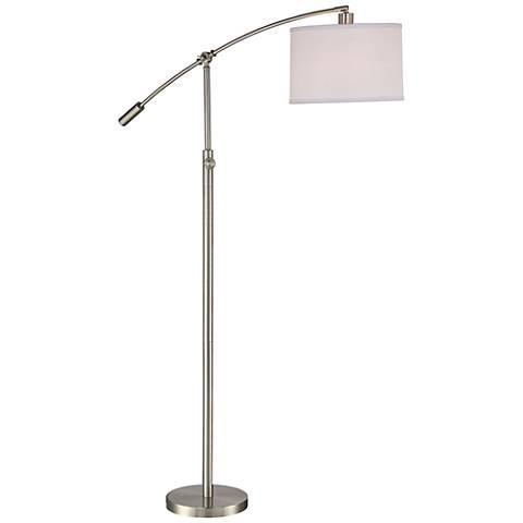 Quoizel Clift Brushed Nickel Adjustable Arc Floor Lamp