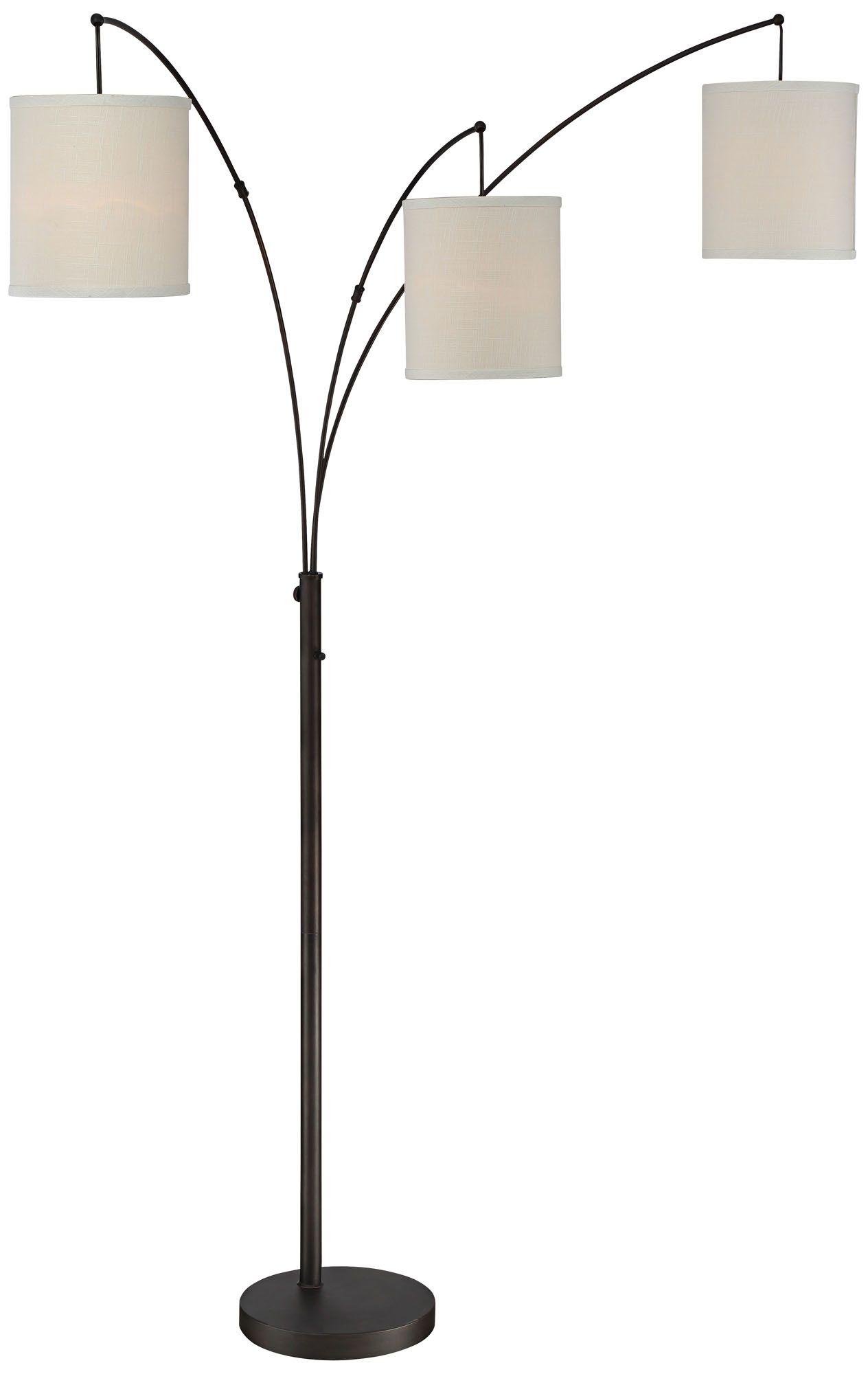 quoizel overlook oil rubbed bronze 3light arc floor lamp
