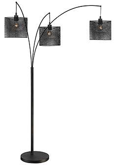 Quoizel arc lamps floor lamps lamps plus quoizel stargaze bronze black mesh 3 light arc floor lamp mozeypictures Choice Image