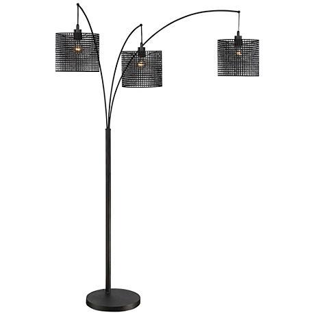 Quoizel Stargaze Bronze-Black Mesh 3-Light Arc Floor Lamp