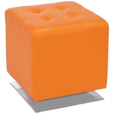 Marco Modern Orange Swivel Ottoman