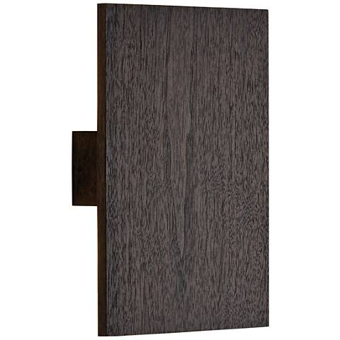 "Cerno Tersus 10 3/4""H Dark Stained Walnut LED Wall Sconce"