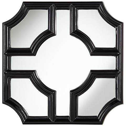 """Sector Black 30"""" Square Wall Mirror"""