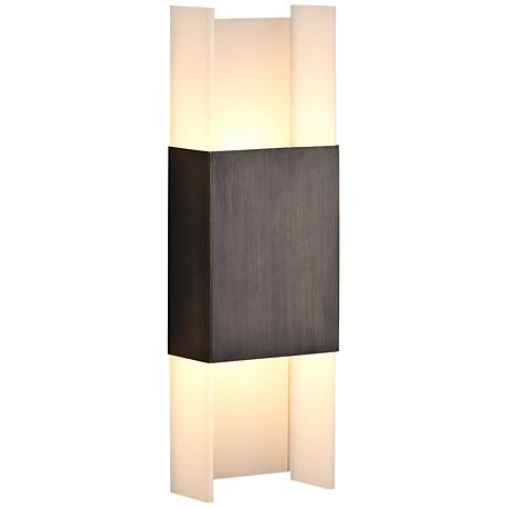 """Cerno Ansa 15 1/2"""" High Oiled Bronze LED Wall Sconce"""