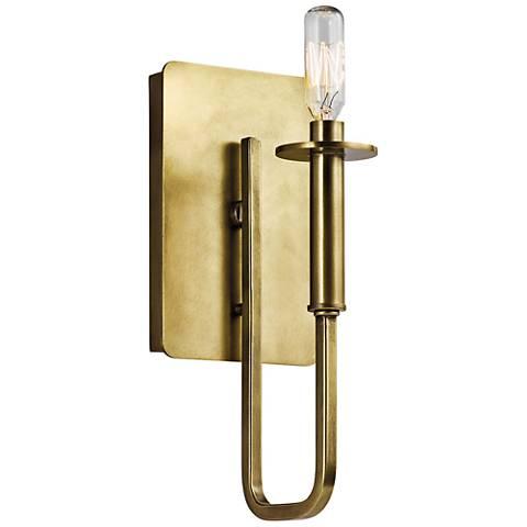 "Kichler Alden 11 1/2"" High Natural Brass Wall Sconce"