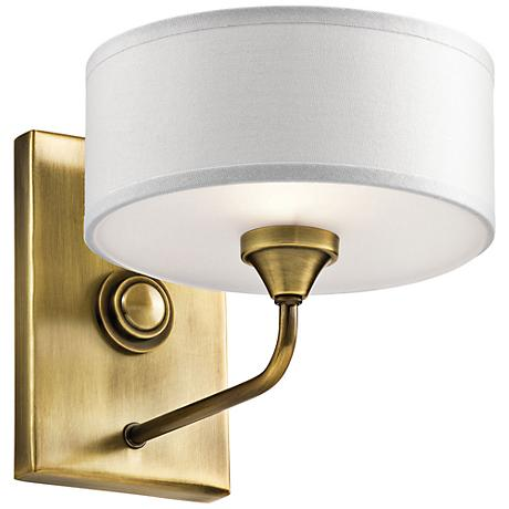 """Kichler Lucille 7"""" High Natural Brass Wall Sconce"""