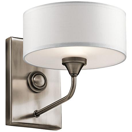 """Kichler Lucille 7"""" High Classic Pewter Wall Sconce"""