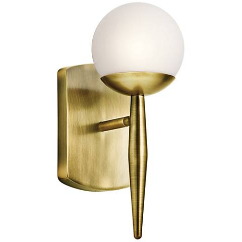 "Kichler Jasper 11 1/2"" High Natural Brass Wall Sconce"