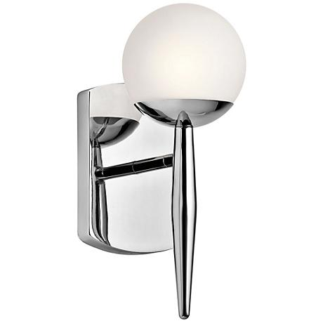 "Kichler Jasper 11 1/2"" High Chrome Wall Sconce"
