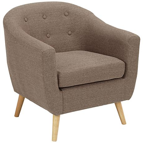Rockwell Taupe Upholstered Accent Chair