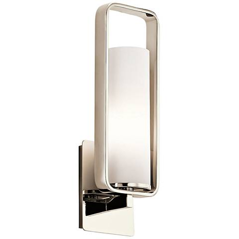 "Kichler City Loft 17 1/4"" High Polished Nickel Wall Sconce"