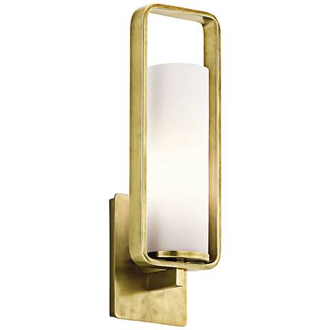 "Kichler City Loft 17 1/4"" High Natural Brass Wall Sconce"