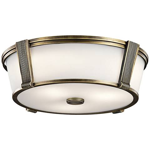 "Pending Family Assignment 17""W Natural Brass Ceiling Light"