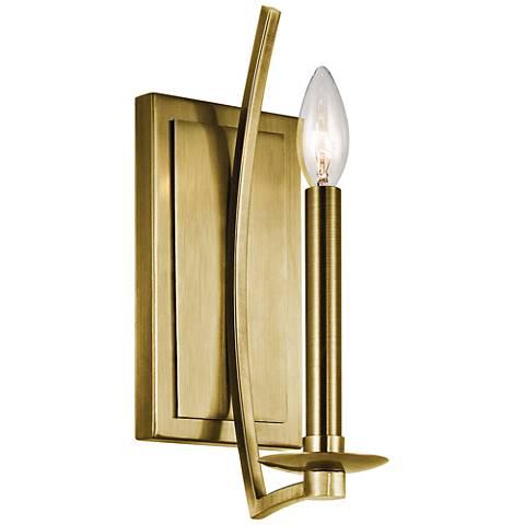"Kichler Grayson 12 1/2"" High Natural Brass Wall Sconce"