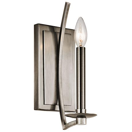 "Kichler Grayson 12 1/2"" High Classic Pewter Wall Sconce"
