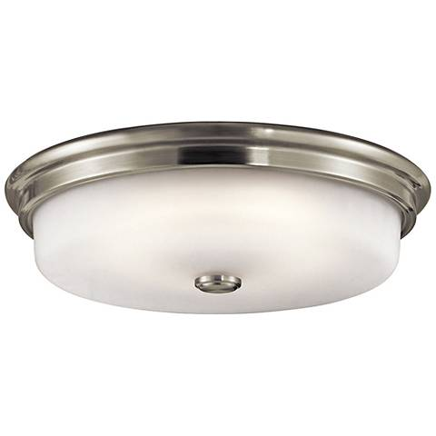 "Kichler Jefferson 16"" Wide Brushed Nickel LED Ceiling Light"