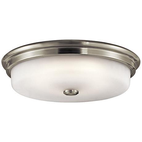 "Kichler Jefferson 16"" Wide Brushed Nickel LED Ceiling Light"