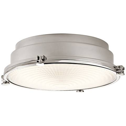 "Hatteras Bay 13 1/4"" Wide Polished Nickel LED Ceiling Light"
