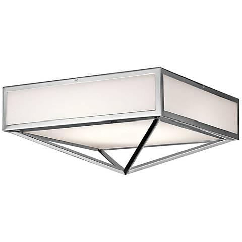 "Kichler Savoca 15"" Wide Chrome LED Ceiling Light"