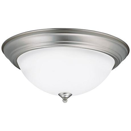 """Kichler Stonecrest 15 1/4""""W Brushed Nickel LED Ceiling Light"""