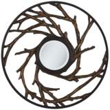 "Everwood Bronze 32"" Round Wall Mirror"