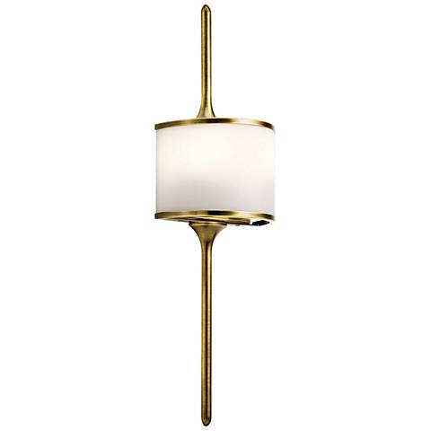 "Kichler Mona 22"" High Natural Brass 2-Light Wall Sconce"