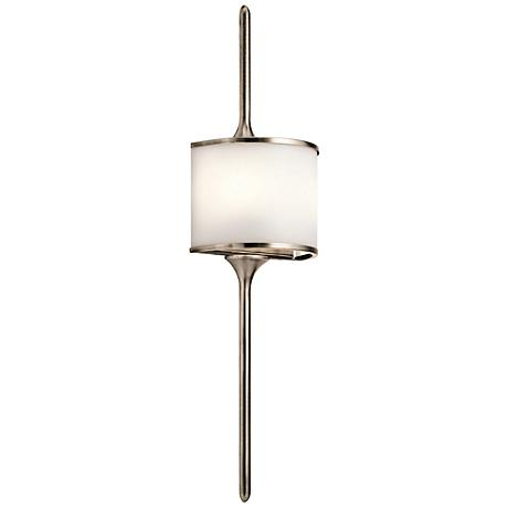 """Kichler Mona 30"""" High Classic Pewter 2-Light Wall Sconce"""