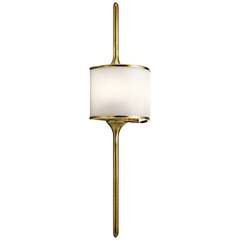 "Kichler Mona 30"" High Natural Brass 2-Light Wall Sconce"