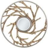 "Everwood Natural Driftwood 32"" Round Wall Mirror"