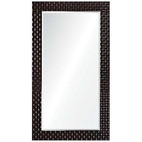 "Trenary Espresso 39 1/2"" x 70"" Full Length Floor Mirror"
