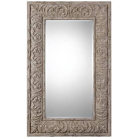"Vazzano Driftwood 47 3/4"" x 75 1/2"" Floor Mirror"