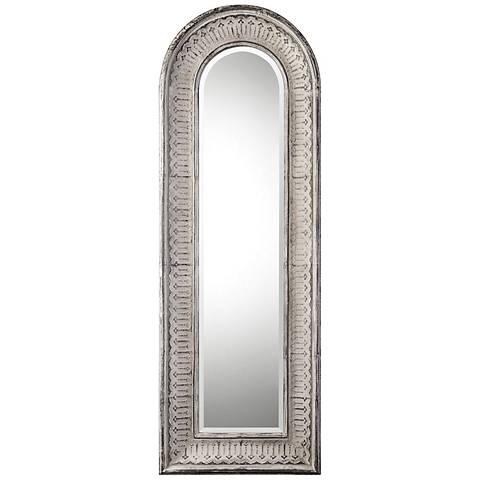 "Uttermost Argenton Aged Gray 30 3/4"" x 89"" Floor Mirror"