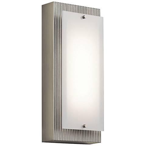 """Kichler Vego 12"""" High Brushed Nickel LED Wall Sconce"""