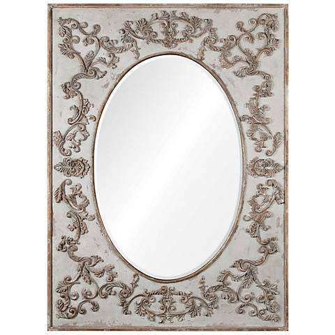 "Modena Aged Ivory 51 1/4"" x 69 3/4"" Floor Mirror"
