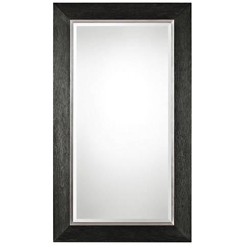 "Creston Black Wood 41 1/2"" x 71 1/2"" Full Length Mirror"