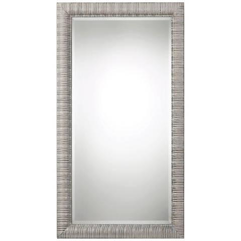 """Abenaki Ivory Gray 37 1/2"""" x 67 1/2"""" Full Length Mirror"""
