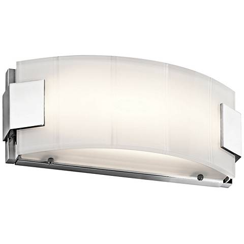 "Kichler Largo 12"" Wide Chrome LED Linear Bath Light"