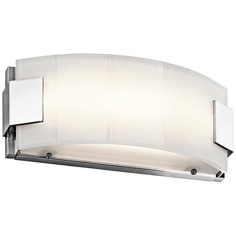 "Kichler Largo 12"" Wide Chrome LED Linear Bath Light"