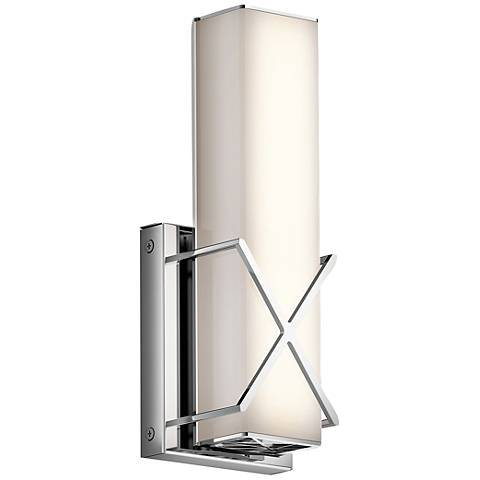 "Kichler Trinsic 12"" High Chrome LED Wall Sconce"