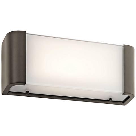 "Kichler Landi 12"" Wide Olde Bronze LED Linear Bath Light"