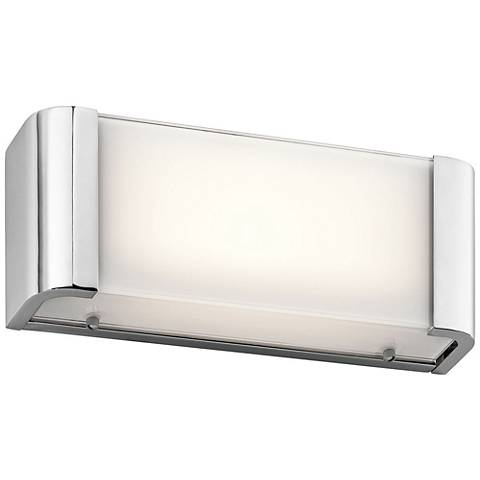 "Kichler Landi 12"" Wide Chrome LED Linear Bath Light"