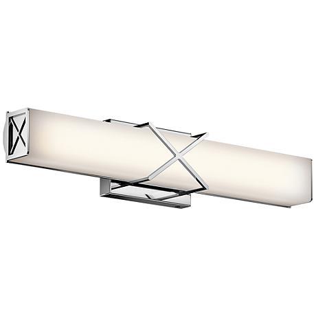 "Kichler Trinsic 22""W Chrome 2-Light LED Linear Bath Light"